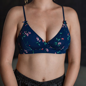 *RESTOCKED* All-Day Comfort Bralette in Midnight Bloom (Size XL Only)