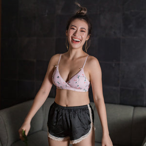 All-Day Comfort Bralette in Sakura Bloom