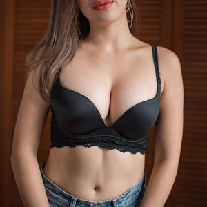 All-You No-Wire Very Sexy Super Push Up Bra in Black Beauty
