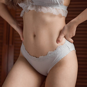 Candy Crush Lace Cheeky in Dusty Grey