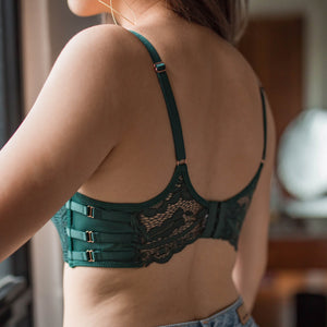 *RESTOCKED* Allure Beauty Wireless Super Push Up Bra in Emerald Green