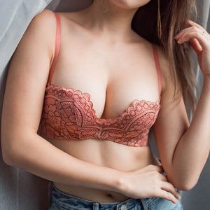 Allure Beauty Wireless Super Push Up Bra in Salmon Pink