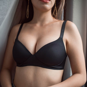 Feathersoft Wireless T-Shirt Bra in Black