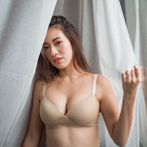 Feathersoft Wireless T-Shirt Bra in Nude