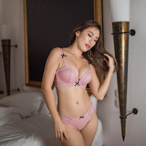 Sweetheart Lace Cheeky in Blush