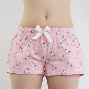 Little Charming Unicorn Lounge Shorts (Pink)