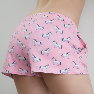 Little Majestic Rainbow Unicorn Lounge Shorts