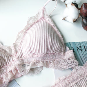 *RESTOCKED* Candy Crush Bralette in Dusty Pink