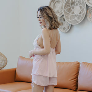 Snooze Queen! Lacey Sleepwear Set in Radiant Pink