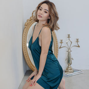 Cosy Queen! V-Back Nightgown in Forest