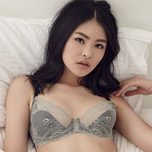 Enchanted Hearts Bralette in Ash Grey (32B ONLY)