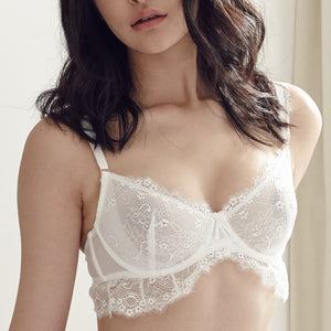 *RESTOCKED* Bitten Love Bralette in Winter White