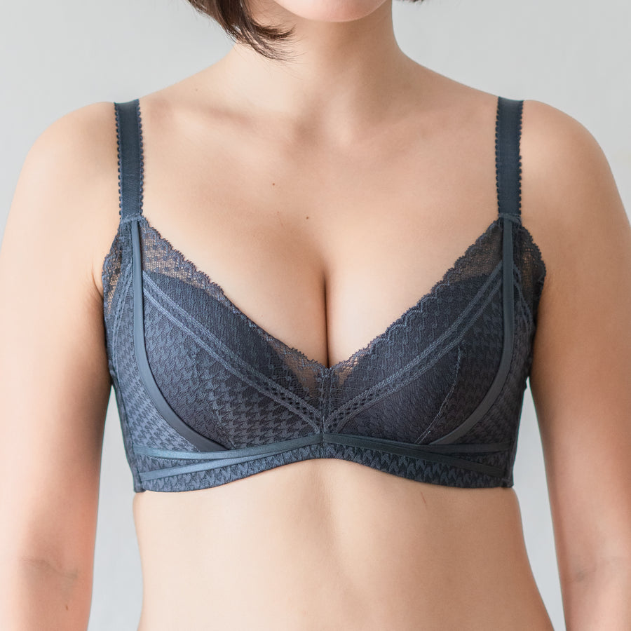 Flaunt it! Comfy Push Up Wireless Bra in Midnight Blue