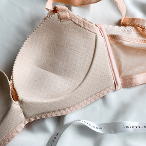Flaunt it! Comfy Push Up Wireless Bra in Nude