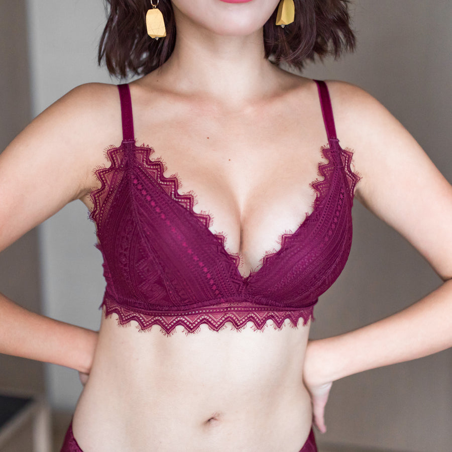 No-Wire Everyday Ultra Comfort Lacey T-Shirt Bra V3.0 in Berry Cherry