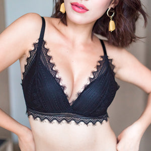 No-Wire Everyday Ultra Comfort Lacey T-Shirt Bra V3.0 in Black Beauty