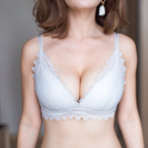 No-Wire Everyday Ultra Comfort Lacey T-Shirt Bra V3.0 in Light Grey