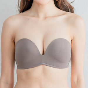 *BACKORDER OPEN* 4th Gen X 100% Non-Slip Wireless Strapless Bra in Grey