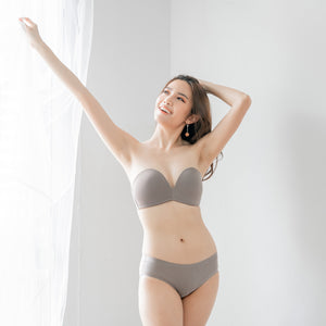 *RESTOCKED* 4th Gen X 100% Non-Slip Wireless Strapless Bra in Grey