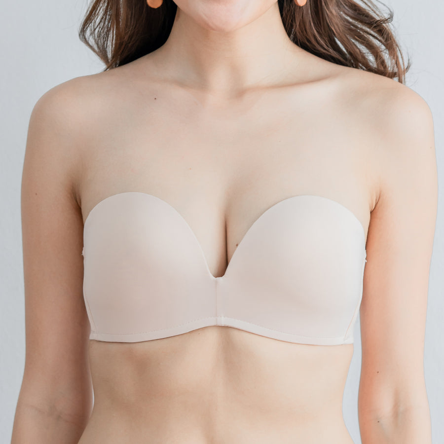 *RESTOCKED* 4th Gen X 100% Non-Slip Wireless Strapless Bra in Nude