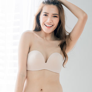 *BACKORDER OPEN* 4th Gen X 100% Non-Slip Wireless Strapless Bra in Nude