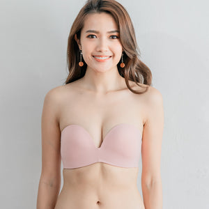 4th Gen X 100% Non-Slip Wireless Strapless Bra in Pink