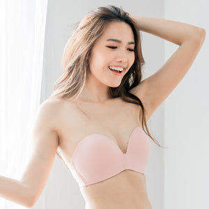 *BACKORDER OPEN* 4th Gen X 100% Non-Slip Wireless Strapless Bra in Pink