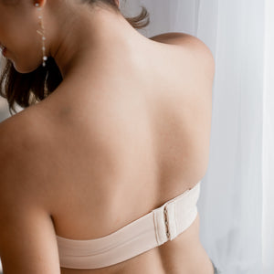 LIFT IT UP! 100% Non-Slip Super Push Up Strapless Wireless Bra in Nude