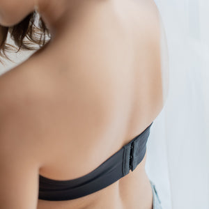 *RESTOCKED* LIFT IT UP! 100% Non-Slip Super Push Up Strapless Wireless Bra in Black