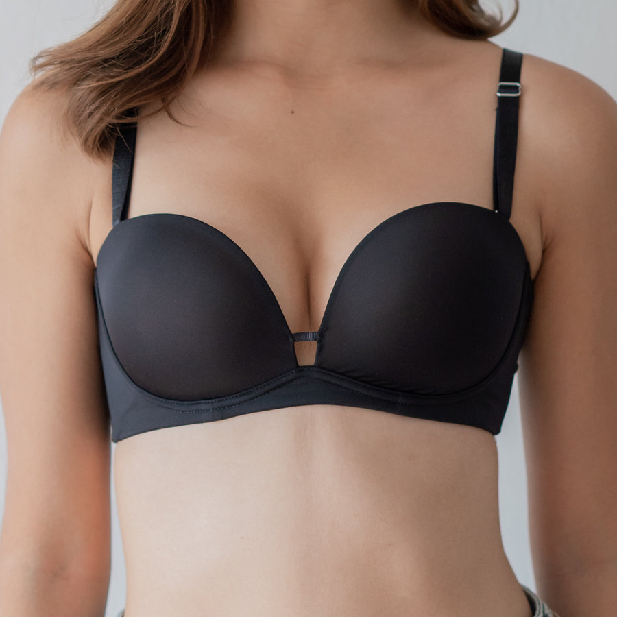 *RESTOCKED* The MVP Super Comfortable Wireless T-Shirt Bra (LYCRA® Fibre) in Black
