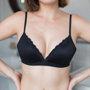 Comfort Stretch Wireless T-Shirt Bra Black