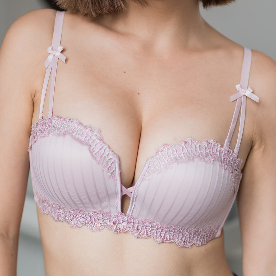 Everything Lacey Wireless Super Push Up Bra in Bubblegum