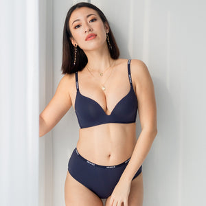 *RESTOCKED* Everyday Hustle Wireless T-Shirt Bra in Navy