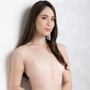 Blushing Goddess Midi Bralette (Black) (Size M Only)