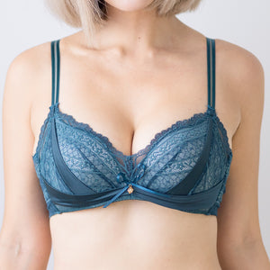 Lacey Temptation Super Push Up Wireless Bra in Forest