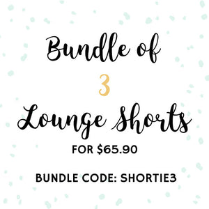 Bundle of 3 Shorts + Free Courier Delivery!