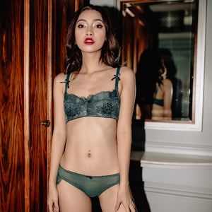 Luxurious Bold Statement Bikini Cheeky in Emerald