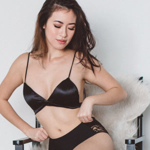 Night Angel Satin Bralette - I'M IN  -  i m i n x x . c o m - 5