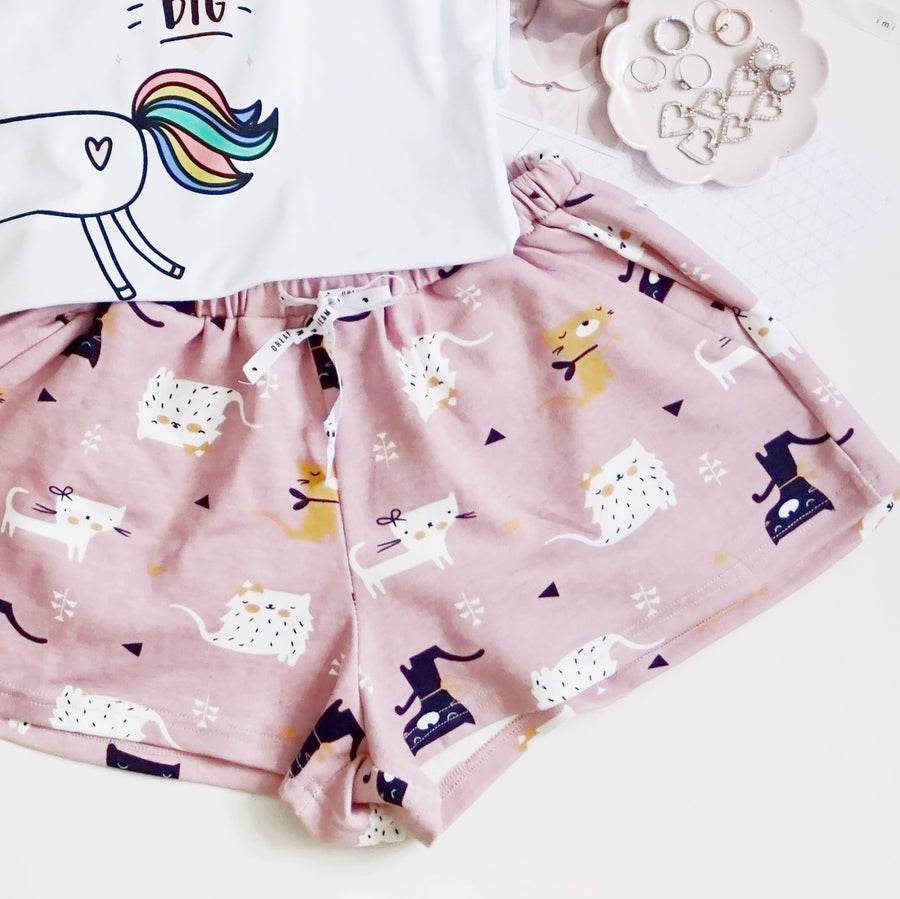Puuurrrrr... Meowie The Cat Lounge Shorts