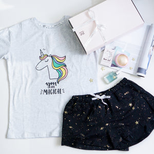 Magical Unicorn Dream Unicorn & Twilight Stardust Gift Set (1 Tee + 1 Lounge Shorts)