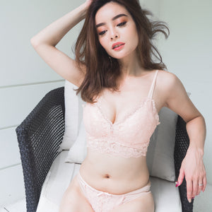 Way-Too-Sexy Comfy Wireless Push Up Bra in Nude