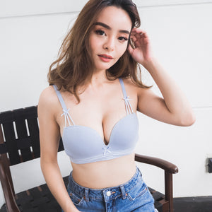 Bonbon Wireless T-Shirt Bra in Confetti Blue