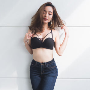 Charm Me! Wireless T-Shirt Bra in Black