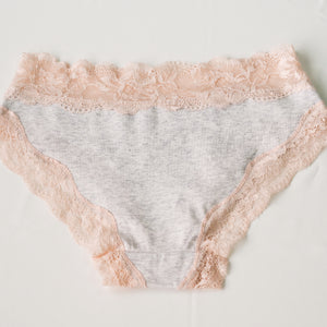 Romantic Illusions Bikini Cheeky in Light Grey