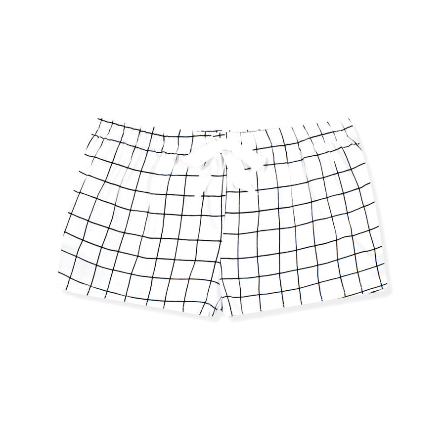 Walk On Grid Lounge Shorts - I'M IN  -  i m i n x x . c o m - 1