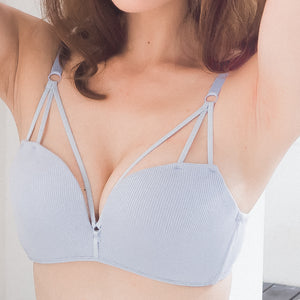 SASSY COMFY WIRELESS T-SHIRT BRA IN BLUE