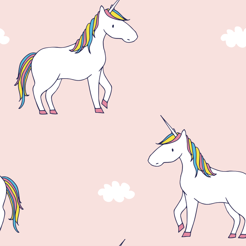 Little Majestic Rainbow Unicorn Hiphugger Cheeky