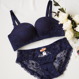 Laced It Up! Bikini Cheeky in Midnight Blue