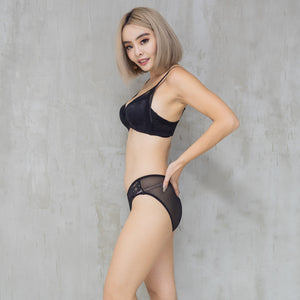 Sexy-Essential Push Up Wireless Bra in Black Beauty