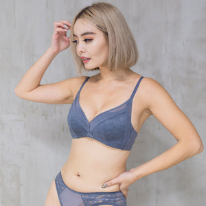 Sexy-Essential Push Up Wireless Bra in Blue